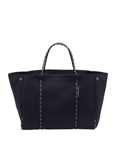 Escape Perforated Tote Bag, Black