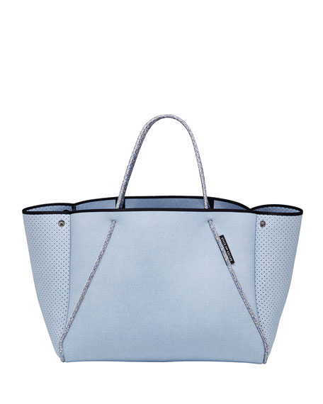State of Escape Guise Perforated Tote Bag, Denim Super Fade