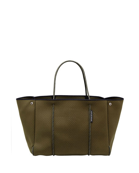 State of Escape Escape Perforated Tote Bag, Khaki