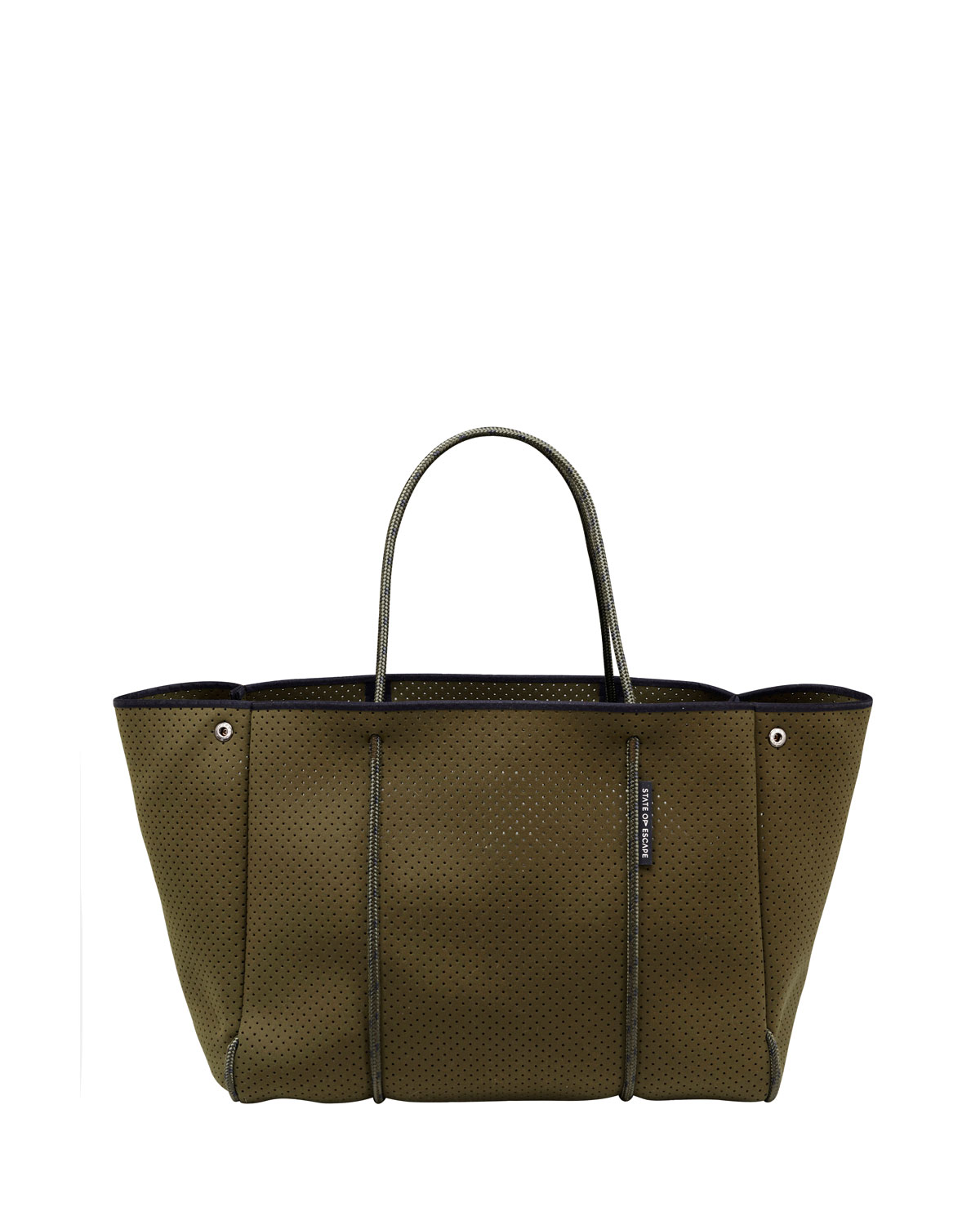 Escape Perforated Tote Bag, Khaki