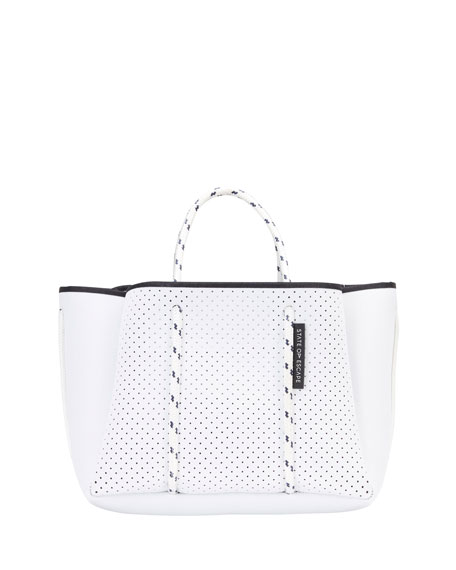 State of Escape Petit Escape Perforated Tote Bag, White