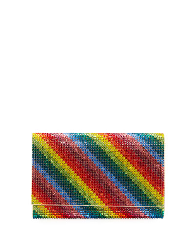 Fizzy Rainbow Crystal Full-Beaded Clutch Bag
