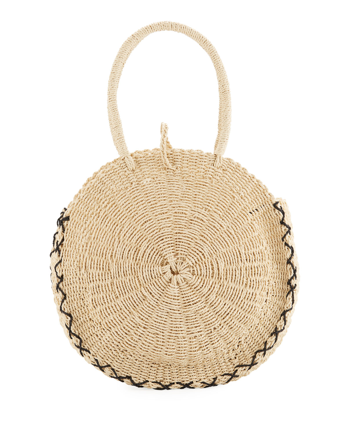 Carried Away Round Beach Basket Tote