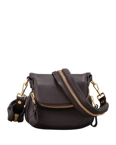 Jennifer Mini Pebbled Leather Crossbody Bag