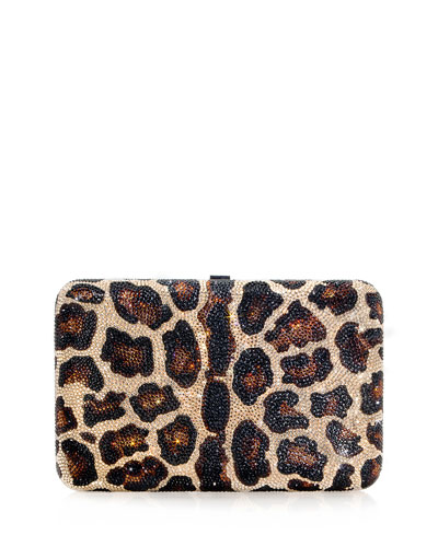 Seamless Leopard Crystal Clutch Bag