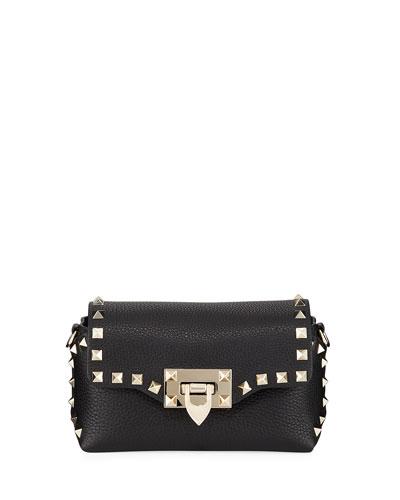 Rockstud Mini Leather Crossbody Bag