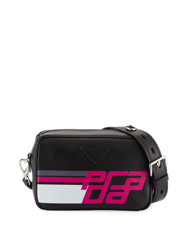 Prada Logo City Calf Camera Bag