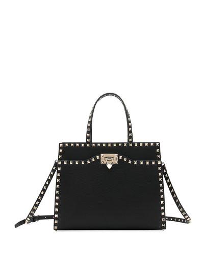Rockstud Medium Vitello Leather Tote Bag