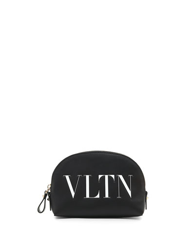 VLTN Small Leather Cosmetics Case
