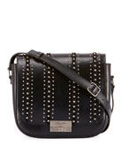 Saint Laurent Betty Stud-Stripe Leather Flap Crossbody Messenger
