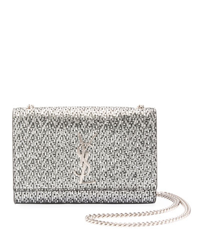 b80e29367213 Quick Look. Saint Laurent · Kate Monogram YSL Small Metallic Chevron Fabric Crossbody  Bag