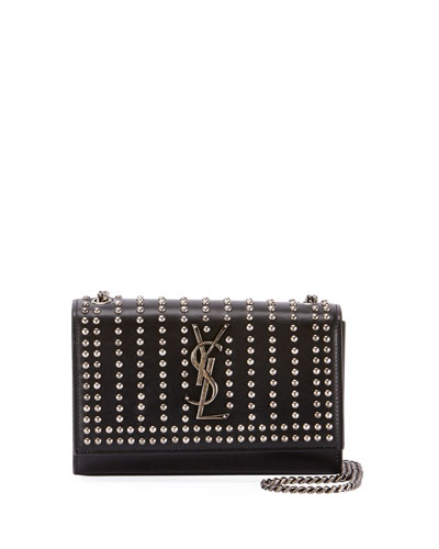 0b9f98e1b81f Quick Look. Saint Laurent · Kate Monogram YSL Small Studded Leather Chain  Crossbody Bag. Available in Black