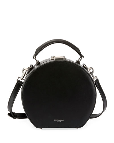 66bf55b416 Quick Look. Saint Laurent · Mica Leather Top-Handle Hat Box Bag ...