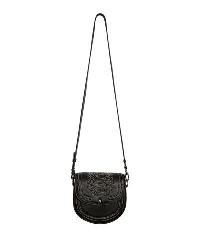Ghianda Mini Leather Saddle Shoulder Bag