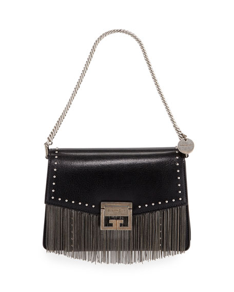 Givenchy GV3 Small Fringed Leather Crossbody Bag