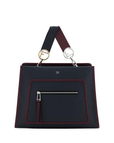Runaway Medium Two-Tone Leather Tote Bag