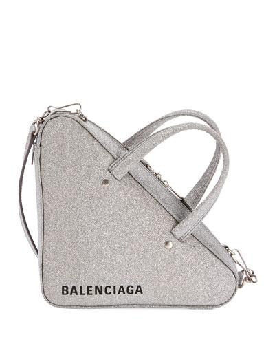 460df1645a055 Quick Look. Balenciaga · Triangle XS AJ Glitter Leather Duffel Bag
