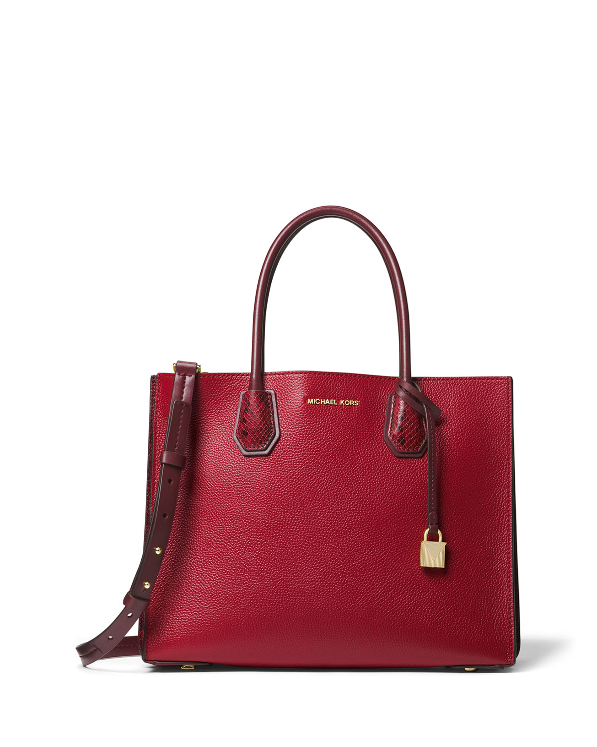 Mercer Large Convertible Tote Bag, Maroon