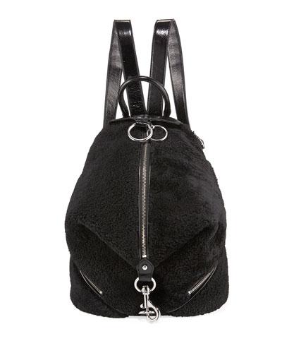 Julian Shearling Zip Backpack