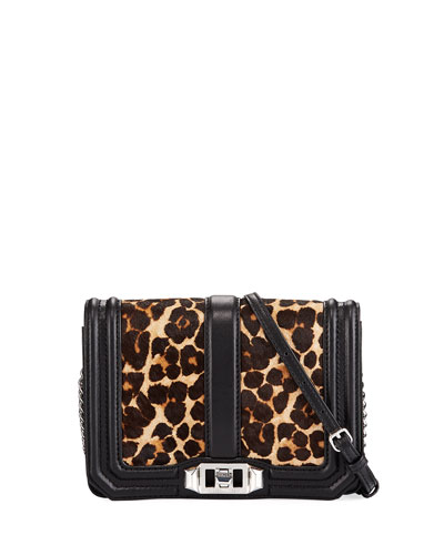Love Small Leopard-Print Crossbody Bag