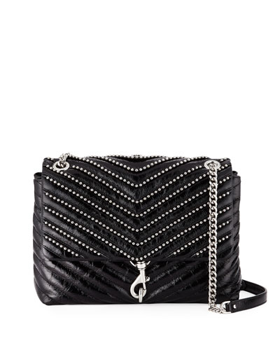 Edie Flap Leather Shoulder Bag