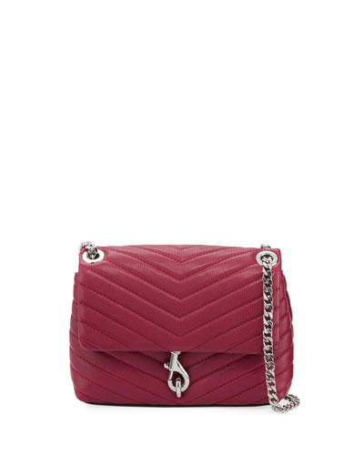 Edie Quilted Leather Flap Crossbody Bag