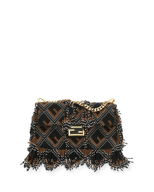 BAGUETTE MICRO FF BEADED SHOULDER BAG from Neiman Marcus