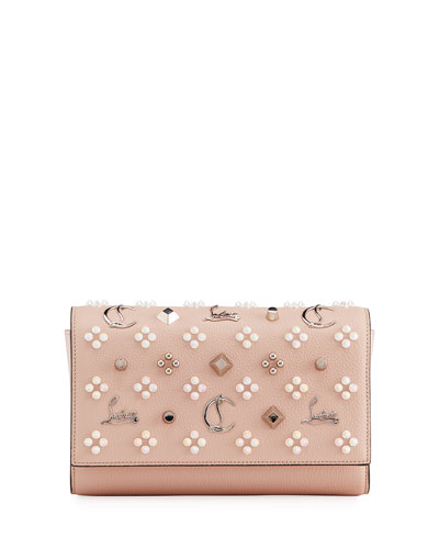 1ead14076a0 Quick Look. Christian Louboutin · Paloma Fold-Over Embellished Clutch Bag