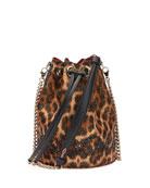Christian Louboutin Marie Jane Leopard-Print Bucket Bag