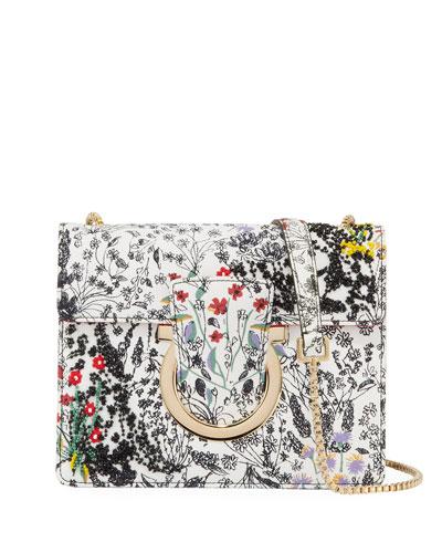 Thalia Beaded Satin Crossbody Bag