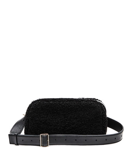 THE ROW Leather and Shearling Fanny Pack