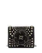 Oscar de la Renta Tro Mini Studded Crossbody