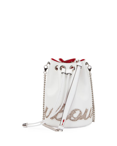Marie Jane Paris Glitter Calf Bucket Bag