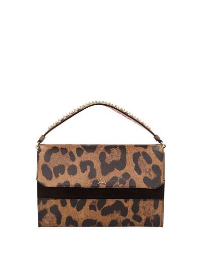 Quick Look Louboutin Loubiblues Leopard Print Clutch Bag
