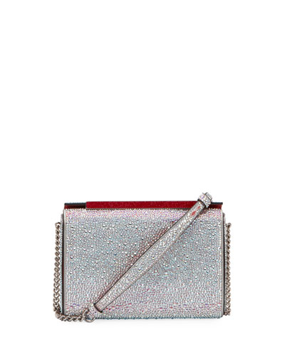 Vanite Large Crystal Suede Clutch Bag