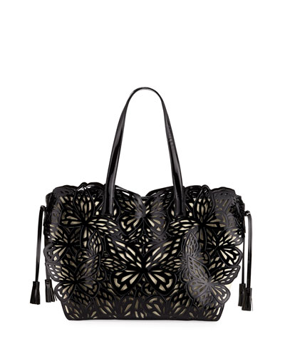 Liara Canvas Butterfly Tote Bag
