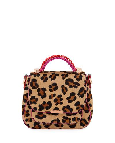 Quick Look Sophia Webster Eloise Leopard Print Crossbody Bag