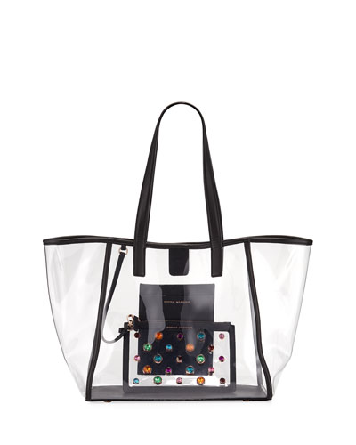 Dina Gem See-Through Vinyl Tote Bag