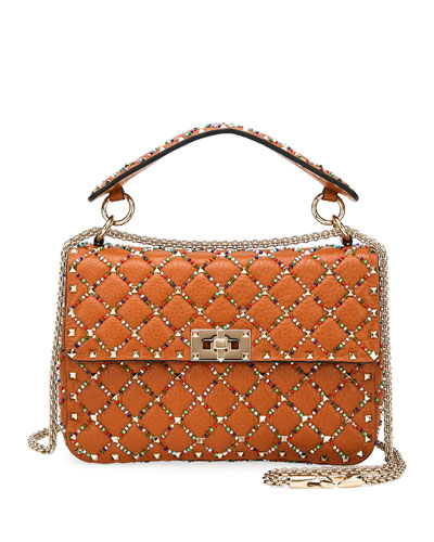 b82d0b059c Quick Look. Valentino Garavani · Spike.It Medium Quilted Leather Shoulder  Bag. Available in Light Cuir