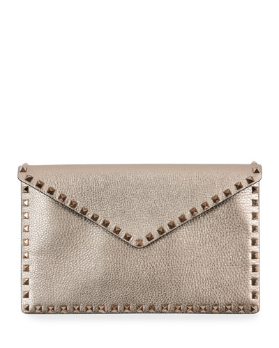 0f38bcc3b0 Quick Look. Valentino Garavani · Rockstud Metallic Envelope Clutch Bag