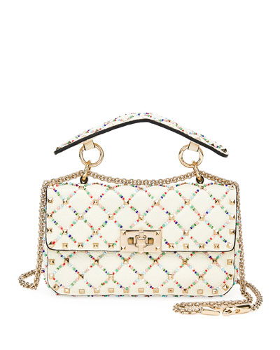 5d0e275fc37a Quick Look. Valentino Garavani · Spike.It Small Quilted Leather Shoulder Bag