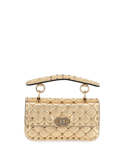 Rockstud Spike Small Metallic Shoulder Bag