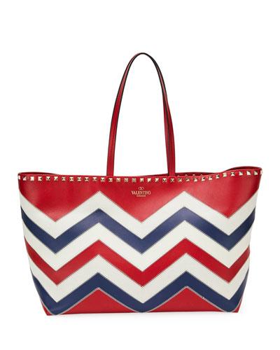 Rockstud Americana Leather Tote Bag