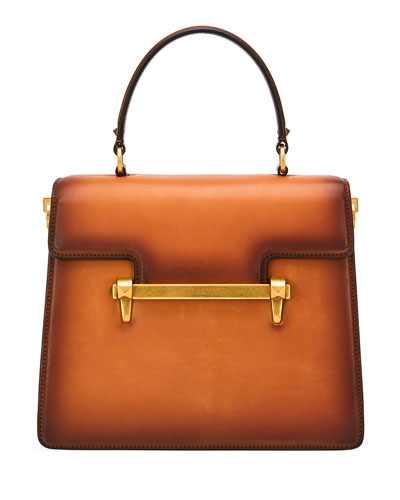 Uptown Leather Top-Handle Bag