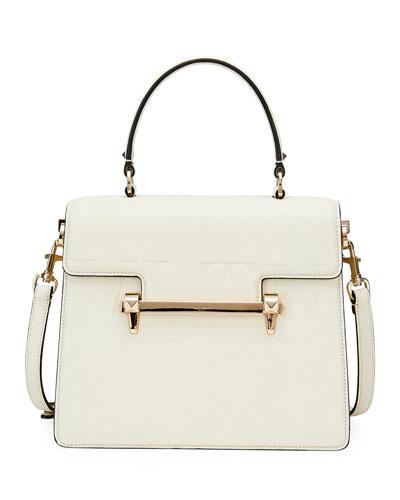 Uptown VLTN Leather Top-Handle Bag