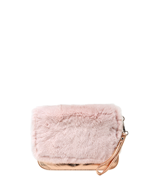 GIRLS' FUR CLUTCH BAG, PINK from Neiman Marcus