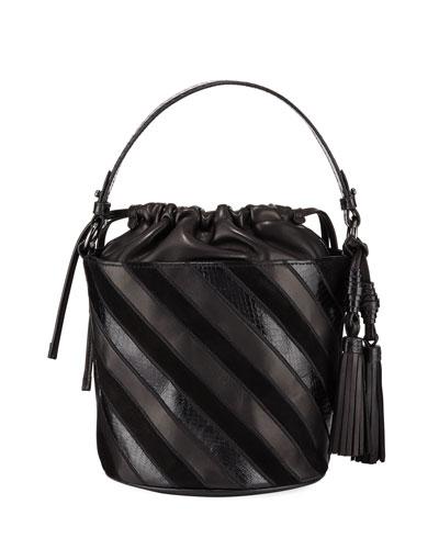Katrina Striped Bucket Bag