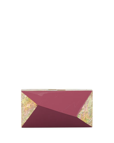 Melissa Rectangular Shell Minaudiere Clutch Bag