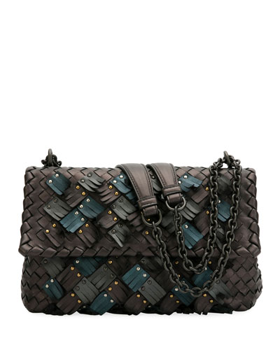 Quick Look. Bottega Veneta · Olimpia Small Plume Woven Leather Shoulder Bag 10f546cbd4092