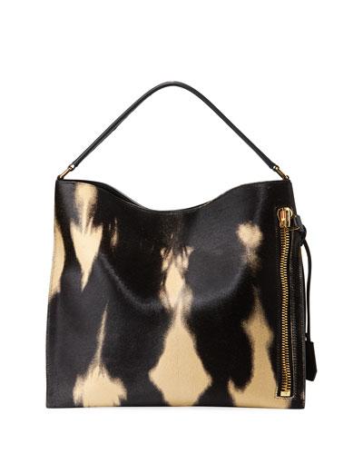Alix Small Tie-Dye Calf Hair Hobo Bag